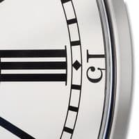Antique Style London City Silver White Wall Clock (H16350) Dimensions 68cm